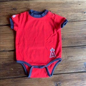 Majestic Anaheim Angels Onesie bodysuit